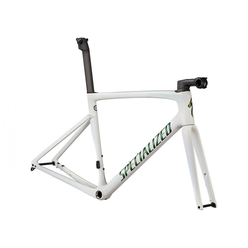 Cuadro y Horquilla Specialized Tarmac SL7 2022 Chameleon Silver Green Tint Over White/Snake Eye