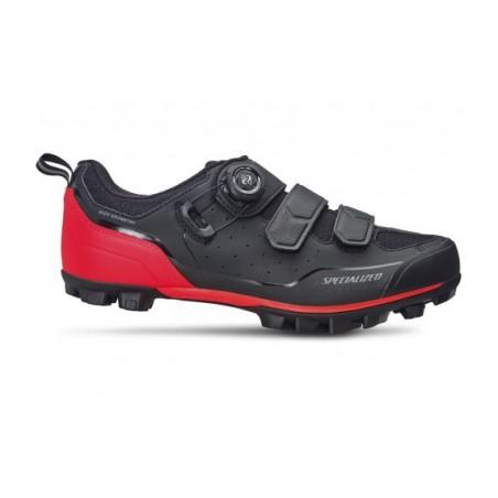 Zapatillas Specialized Comp MTB Black / Rocket Red